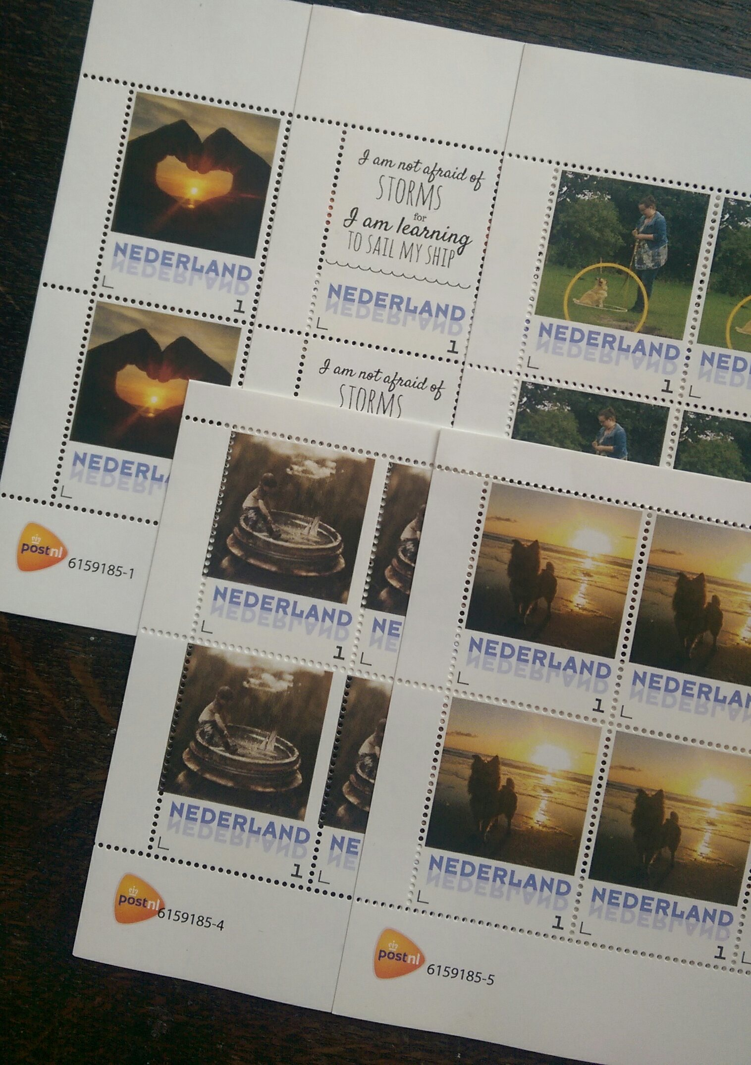 troostpost postzegels