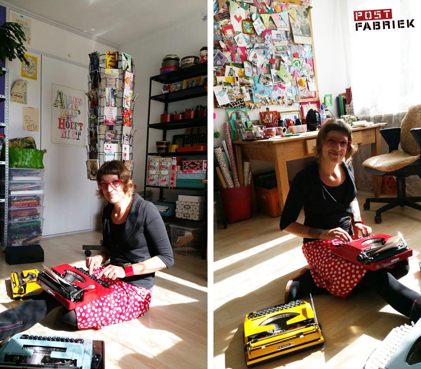 Nienke in haar postkamer. Foto's zijn gemaakt door Britt van Uem voor Hart van Hengelo.