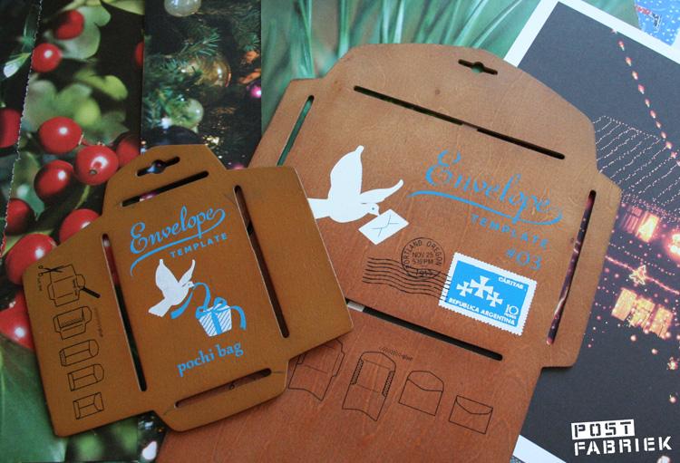 Met behulp van verschillende enveloppenmallen maakte ik een groot deel van de zakjes voor de adventskalender zelf.