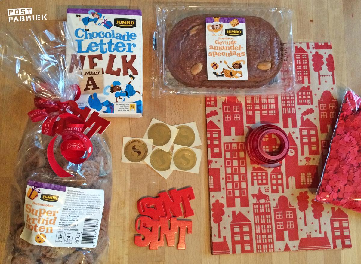 Sinterklaaspakkertje met versiering besteld bij leukelintjes.nl