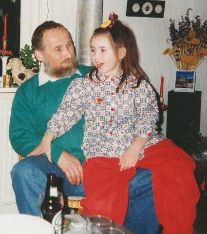 Mijn vader en ik met kerst