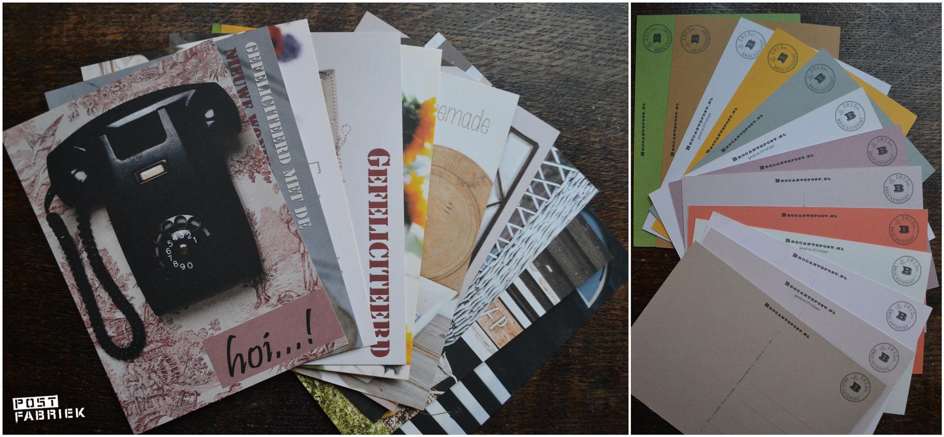 Een stapel postkaarten