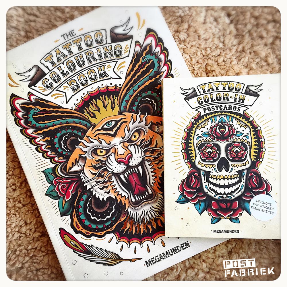 Het tattoo kleurboek van Megamunden.