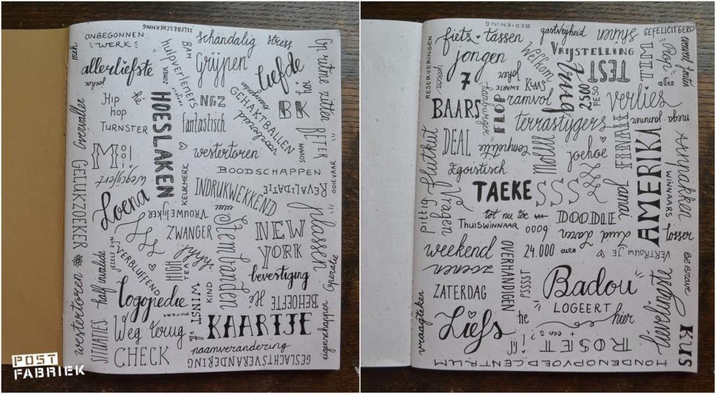 Twee bladzijdes uit mijn oefenschrift