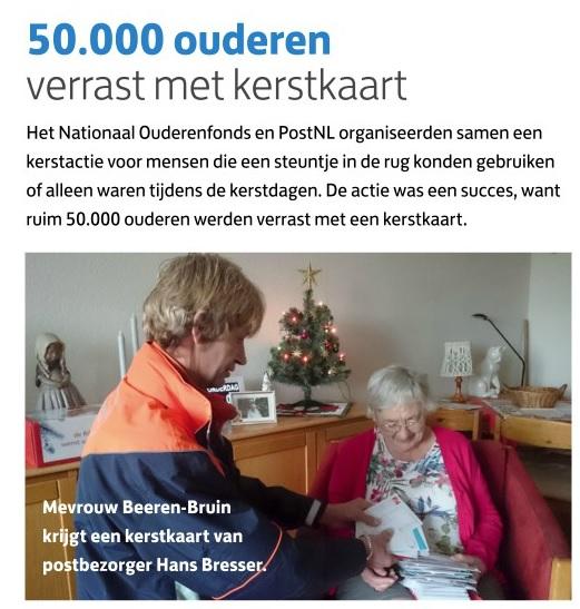 50.000 ouderen verrast met kerstkaart