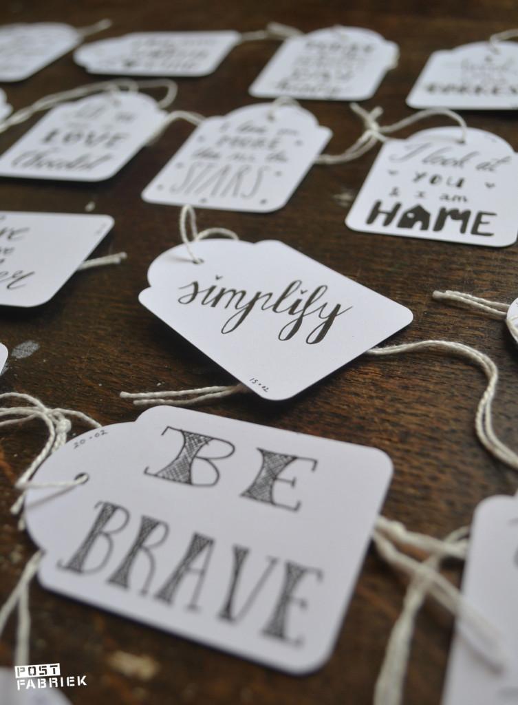 Een deel van de #letteritfebruary labels