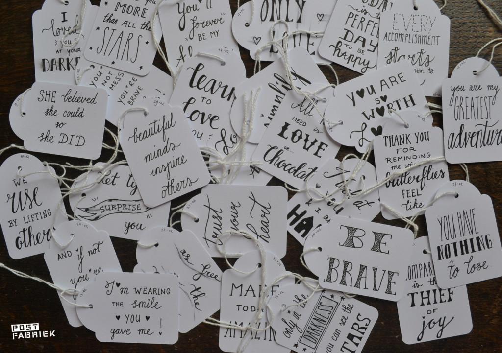 Alle #letteritfebruary kaartjes