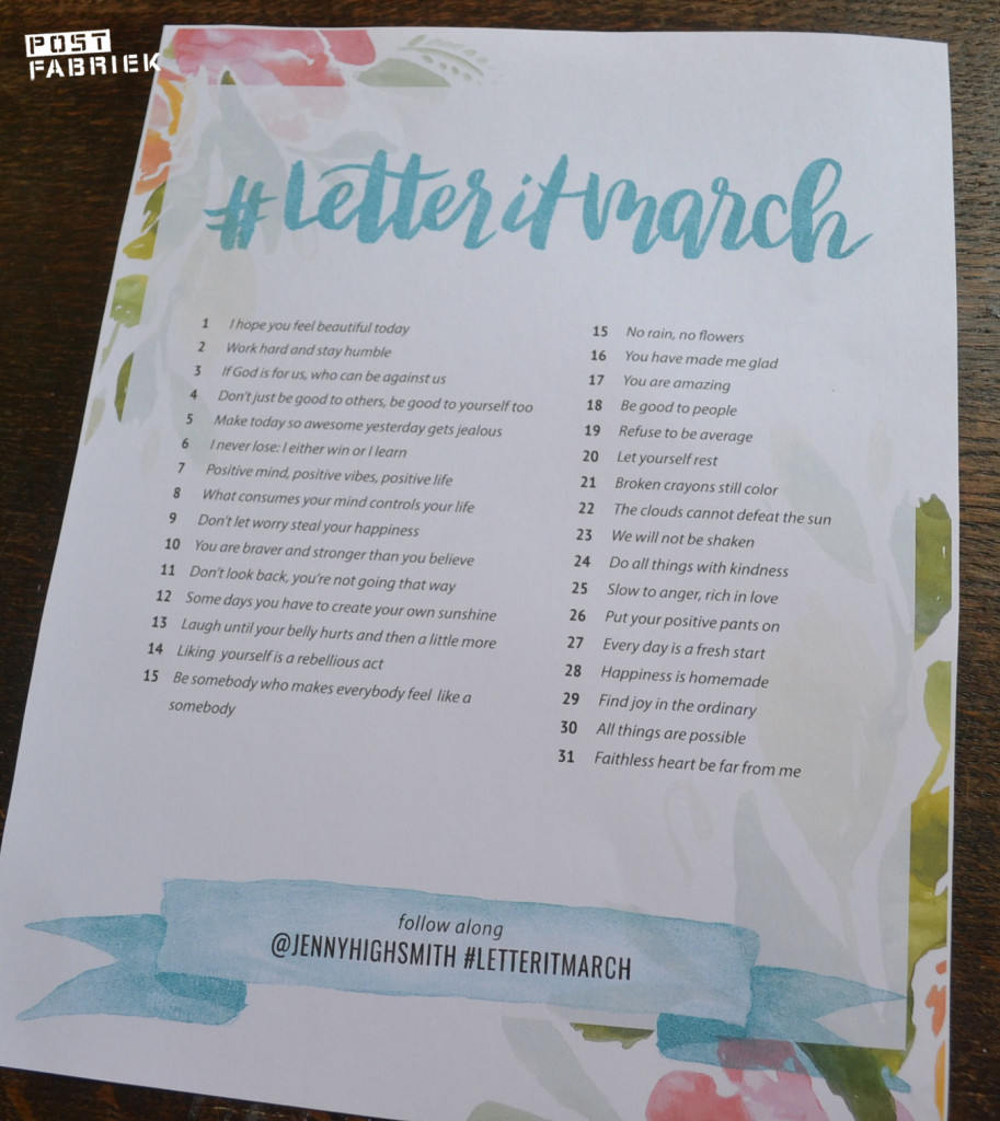 #letteritmarch challenge