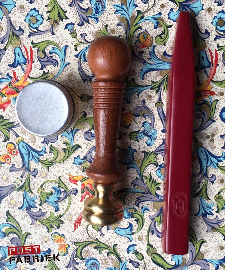 Lakzegel stempel, lakstaaf en zegellak Scrittura Elegante