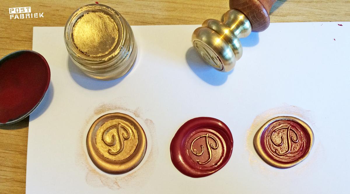 Lakstempels met zegel créme op drie manieren