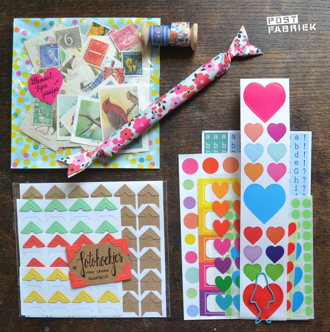 Kleurrijke stickers en plaatjes
