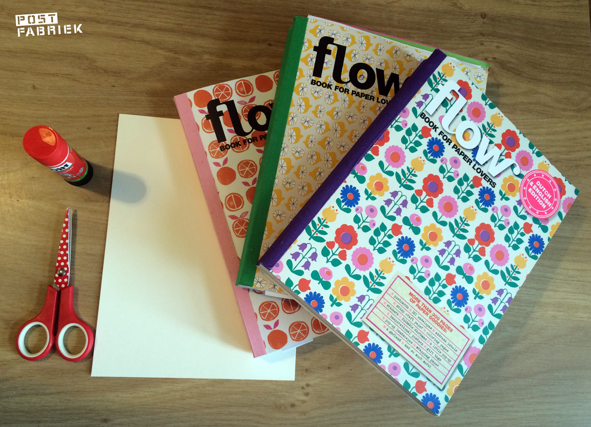 Drie flow books for paper lovers