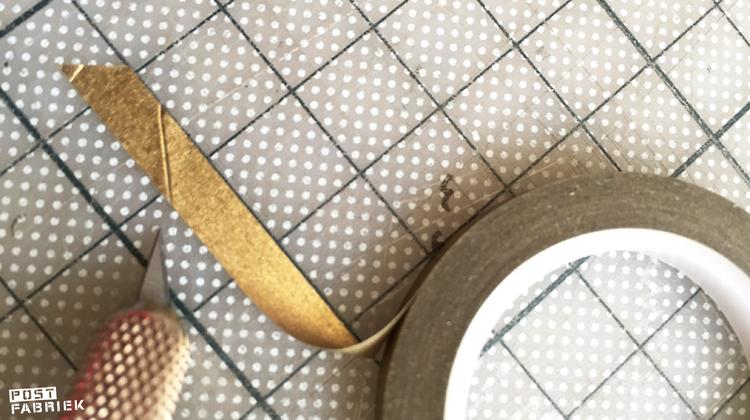 Washi-tape schuin snijden op mijn snijmat