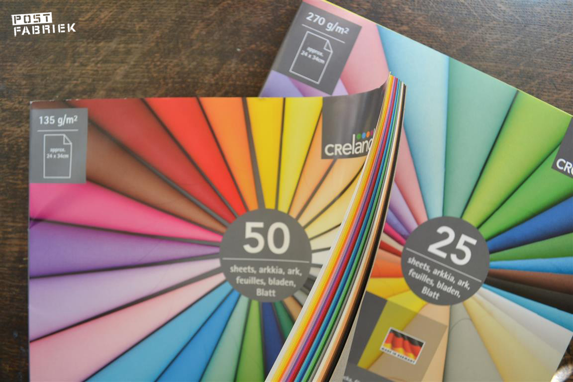 Favoriete basismaterialen van ruchama postfabriek for Gekleurd papier action
