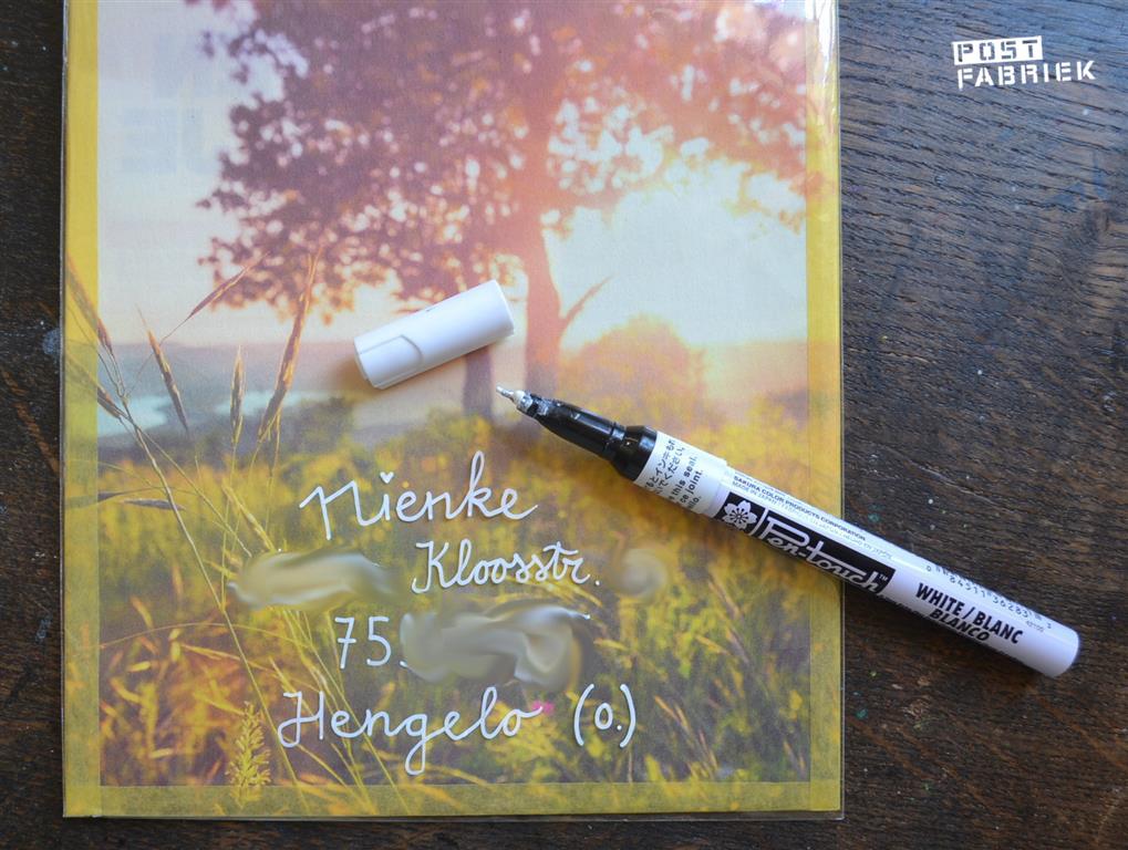 Witte permanente pen