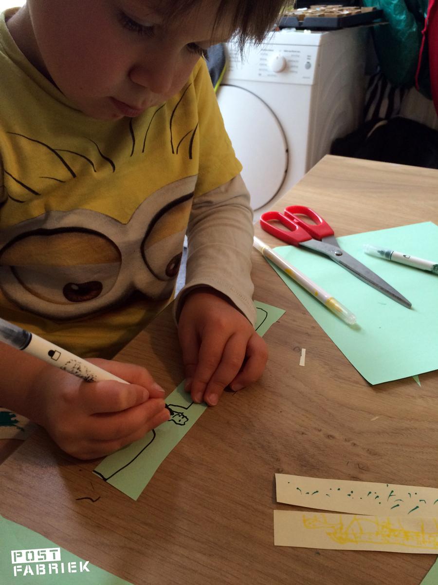 Noah knutselt een eigen kettingbrief