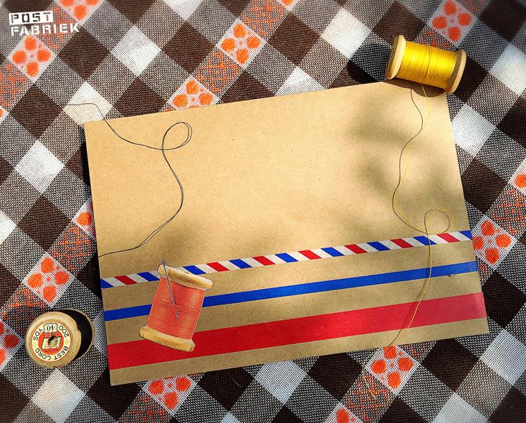 bruine envelop met wat eigen toevoegingen