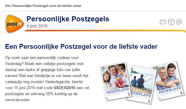 persoonlijke postzegels kortingscode