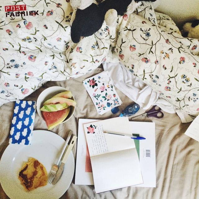 brief schrijven in bed