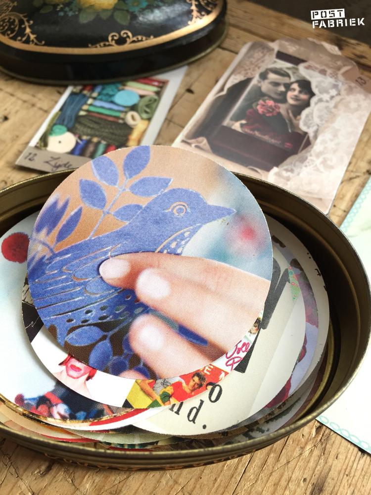 Kleine afbeeldingen uit boek of tijdschrift tover je in één klik om in een sticker
