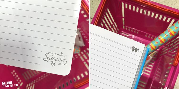 Leuke printjes in de notitieboeken van HEMA