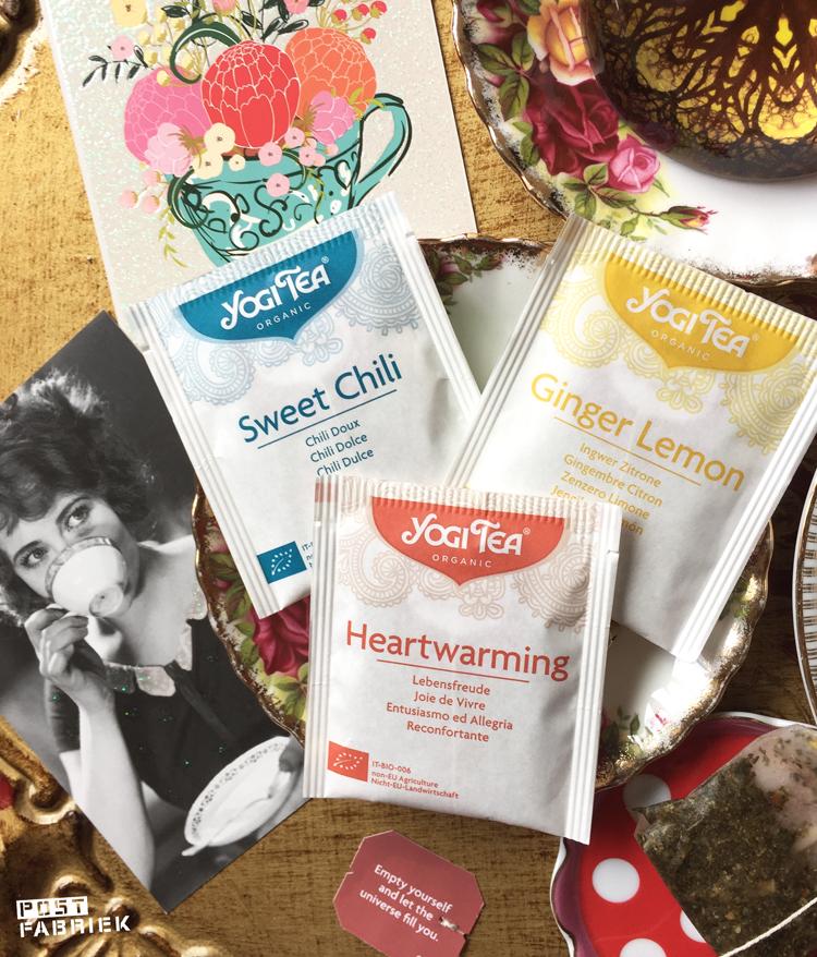 Nieuwe verpakking van Yogi Tea, foto gemaakt in 2016.