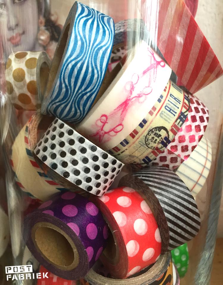 Verschillende Washi-tape met printjes