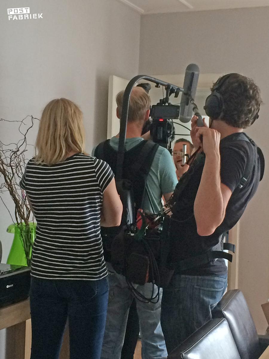 Regisseur, cameraman en geluidsman van VPRO Dorst