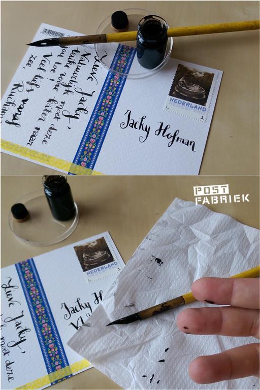 Vlekken maken met inkt
