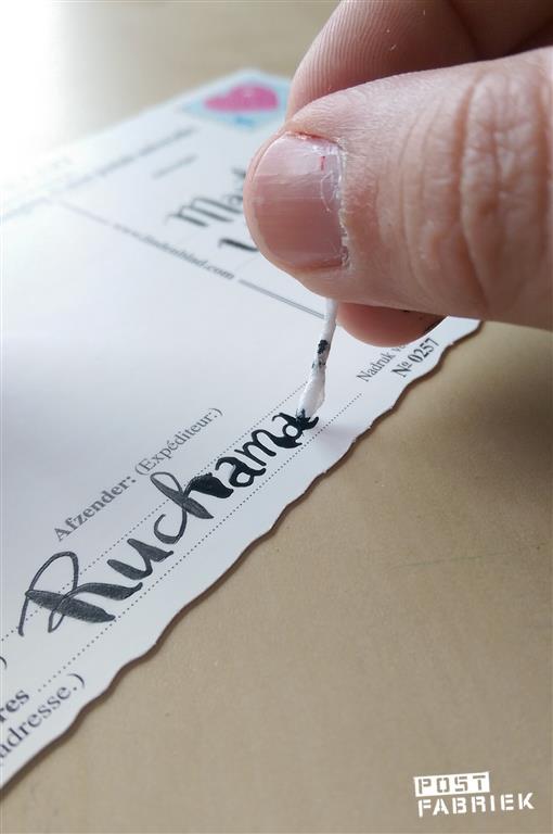 Teveel inkt opzuigen met keukenpapier