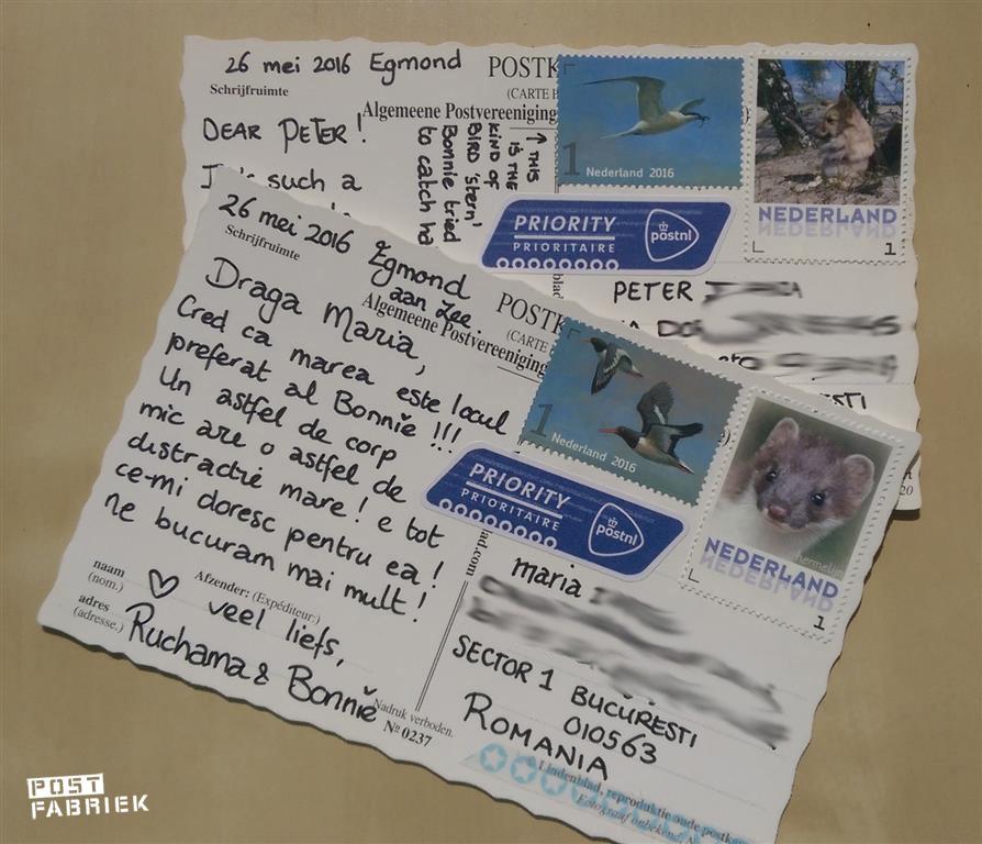 kaartje geschreven vakantie