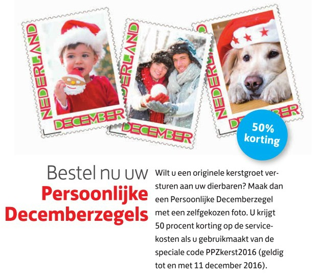 Kortingscode Decemberzegels
