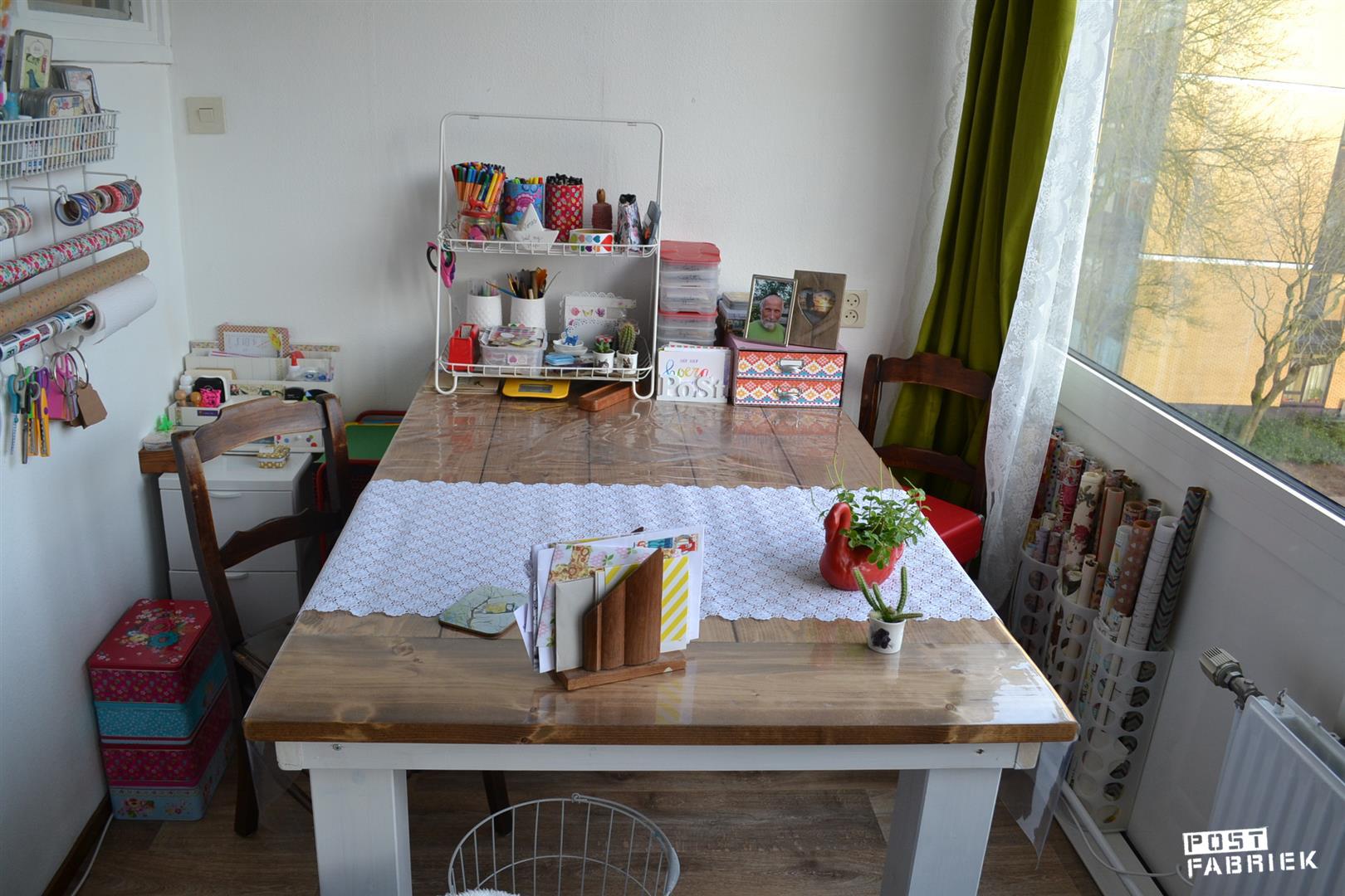 Mijn steigerhouten tafel van 160x100