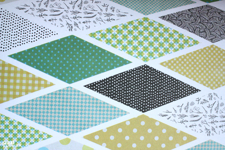Vlaggetjes met patroontjes