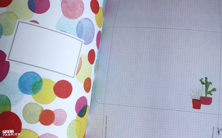 Vouwenveloppen met ruimte voor een boodschap uit Flow Book for Paper Lovers 4
