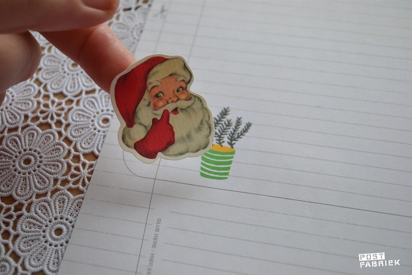 Kerststickers gebruiken