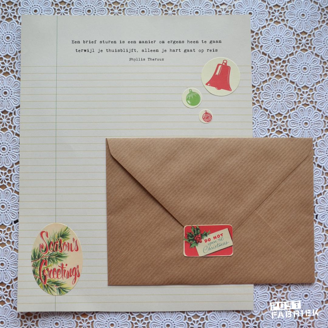 Een kerstbrief voor op eerste kerstdag