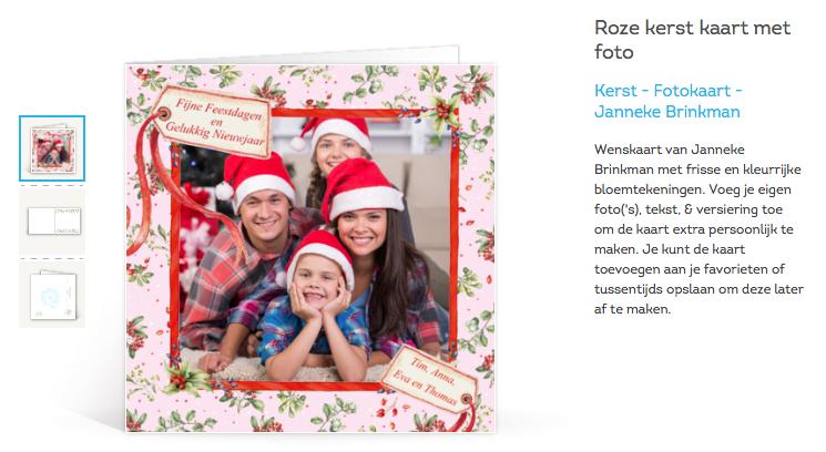 Bestel foto kerstkaarten bij Greetz