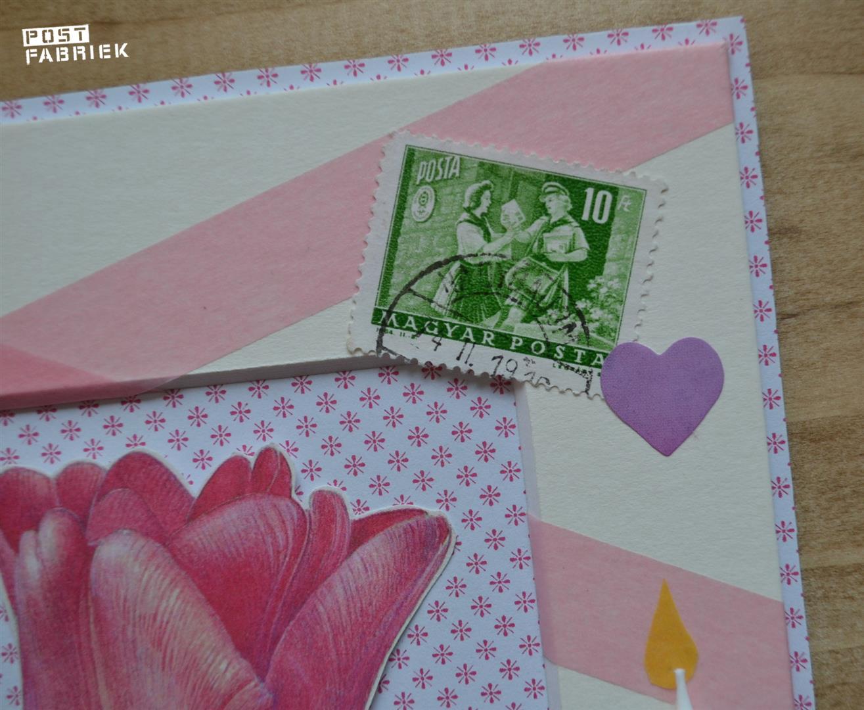 Detail van de leuke postzegel