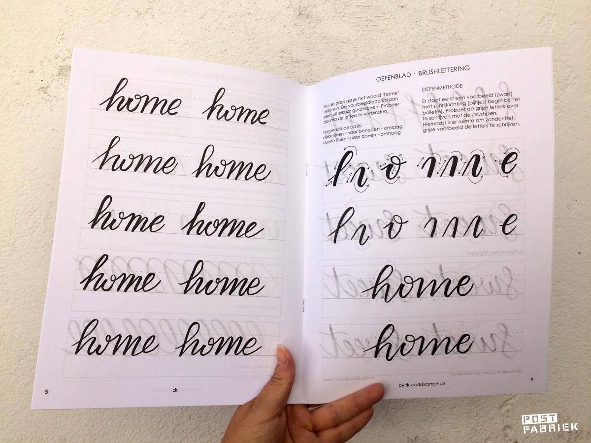 """Stap voor stap leren de quote """"Home sweet home"""" te schrijven in brush letters"""