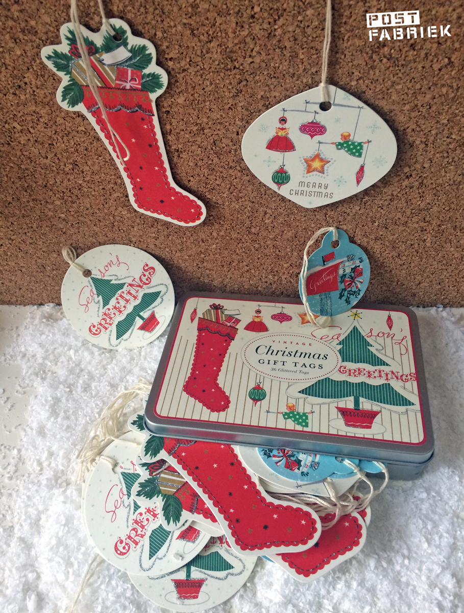 Vintage Christmas Gift Tags van Cavillini & Co