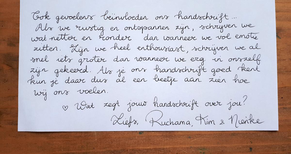 Internationale dag van het Handschrift 2018: een handgeschreven blog deel 3
