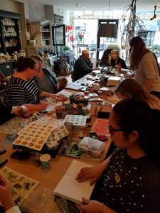 Workshop stickers maken bij het Stationery Café
