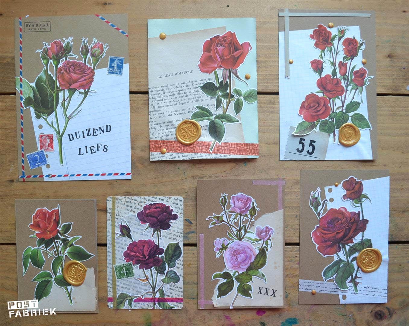 kaartjes voor postvriendinnen