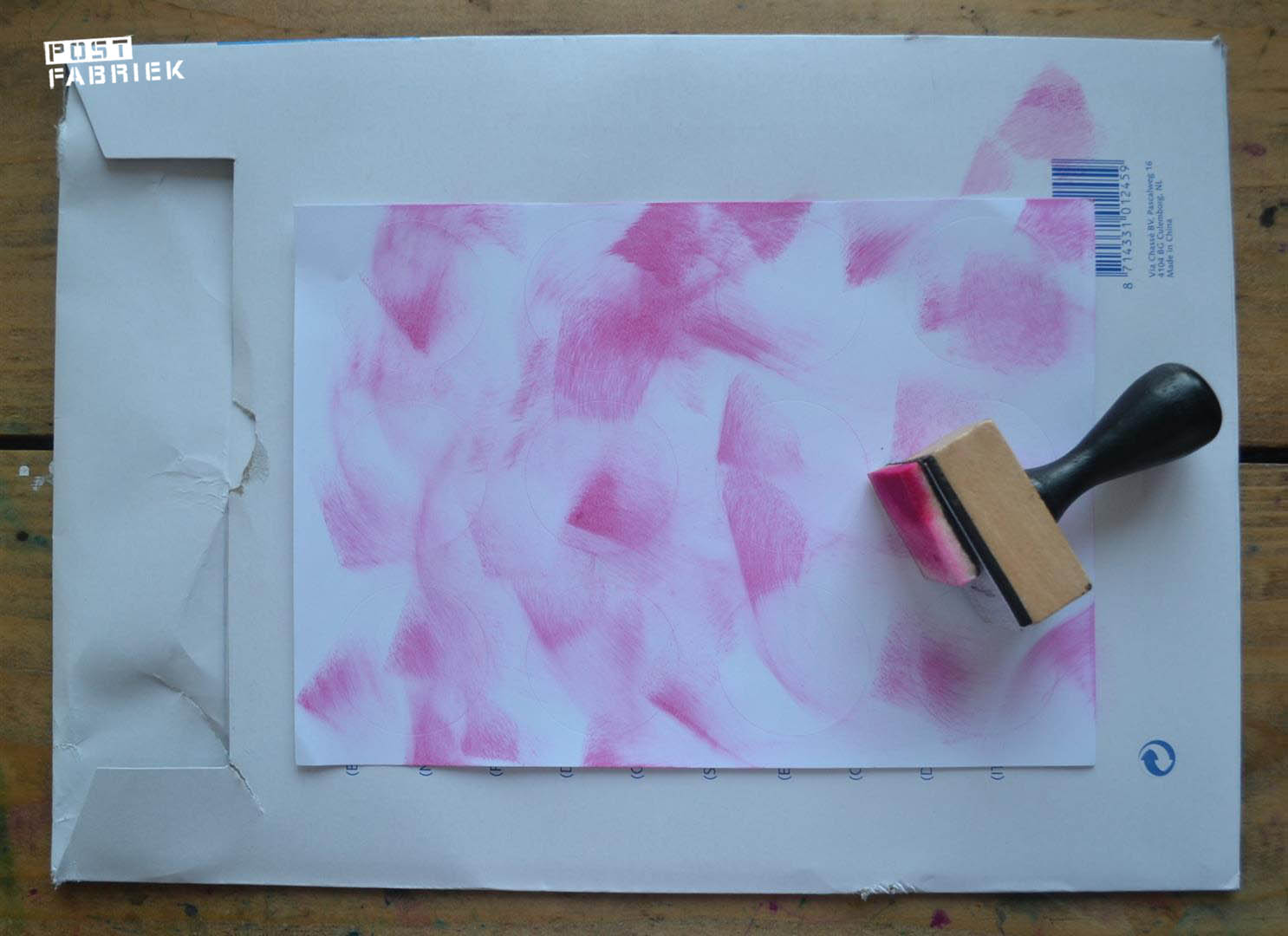 roze vegen distress inkt