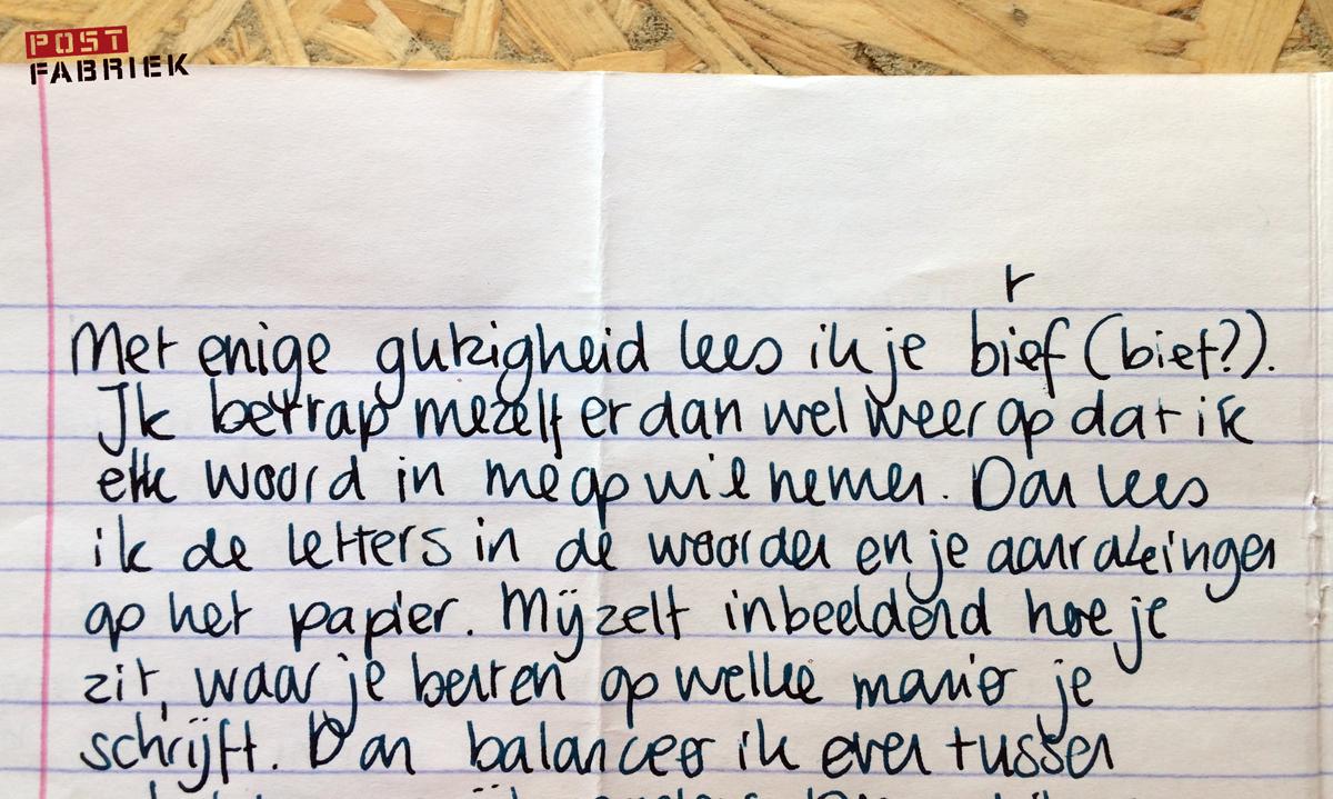 Michel schrijft wat mijn brief in hem losmaakte