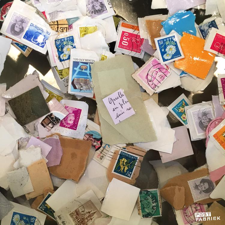 Postzegels weken