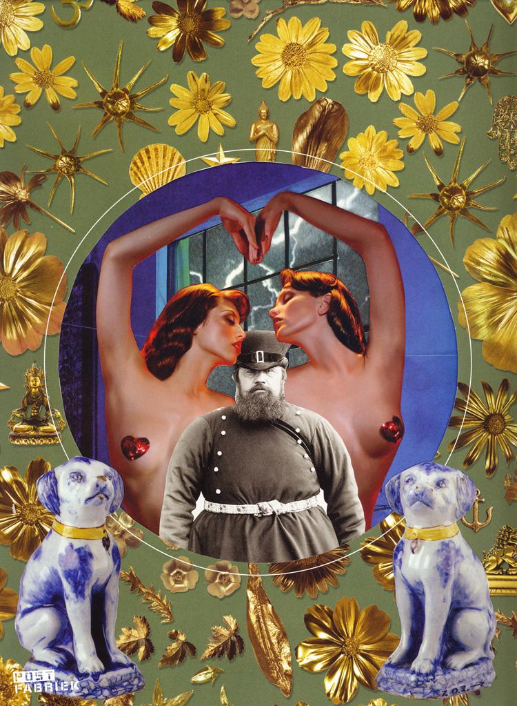 Collage van Nienke Mekkelholt, gemaakt voor het Zusterhood-project