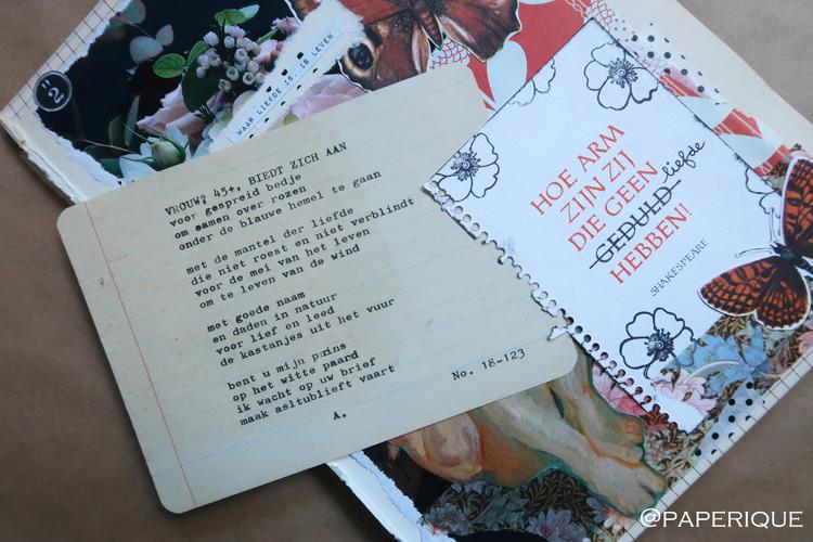 De contactadvertentie van Paperique n.a.v. het Zusterhood-project