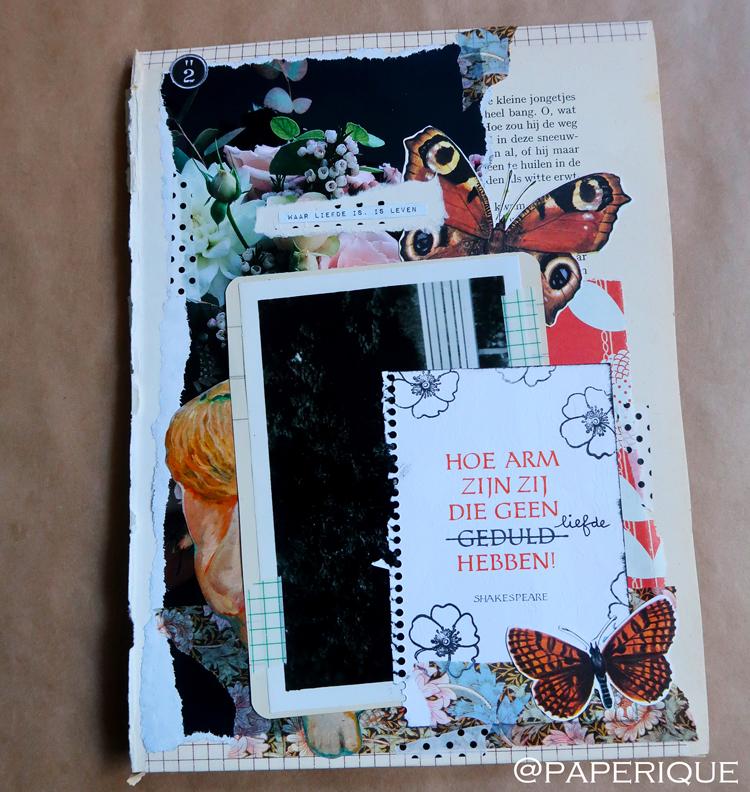 Onderdeel van de uitklapbare collage van Paperique voor het kunstproject per post van Zusterhood